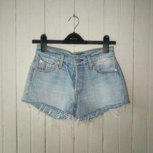 Levi's 501 %100 cotton jean shorts cutoffs 24